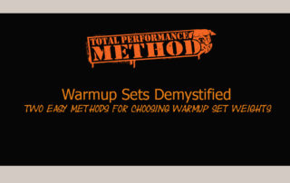 Warmup Sets Demystified, Percentages. plates,quarters,skill,tpsmethod.com,volume,warm up, warmup, cj murphy, demystified, nervous system;